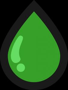 CBD Öl wird oft gün dargestellt
